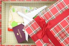 Het reizen als gift stock foto's