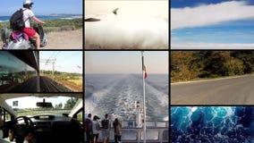 Het reizen, collage stock videobeelden