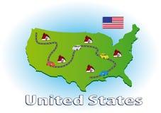 Het reizen in de Verenigde Staten Royalty-vrije Stock Afbeeldingen