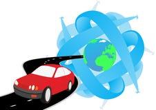 Het reizen door auto stock illustratie