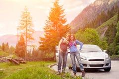 Het reizen door auto op het Dolomiet Royalty-vrije Stock Fotografie