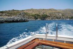 Het reizen door boot stock fotografie