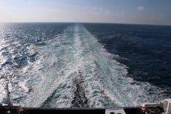 Het reizen door boot van Noorwegen naar Denemarken royalty-vrije stock afbeeldingen