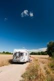 Het reizen door mobil huis stock foto