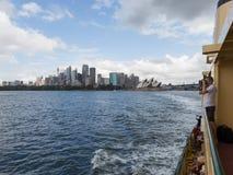 Het reizen door veerboot in Sydney Stock Foto's