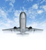Het reizen door vliegtuighemel Stock Afbeelding
