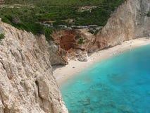 Het reizen en de partij van de de zomerpret Beste stranden in de wereld Lefkada Griekenland royalty-vrije stock fotografie