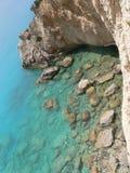 Het reizen en de partij van de de zomerpret Beste stranden in de wereld Lefkada Griekenland stock fotografie