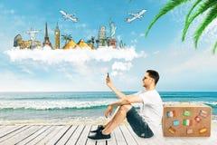 Het reizen en kustconcept stock foto's