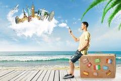 Het reizen en strandconcept royalty-vrije stock fotografie