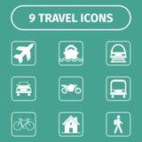 Het reizen en vervoerpictogrammen voor Web en Mobiele App Royalty-vrije Stock Fotografie