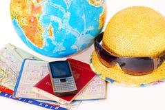 Het reizen helemaal over de wereld Stock Foto