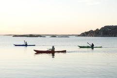 Het reizen het kayaking Royalty-vrije Stock Foto's