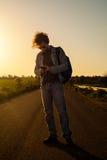 Het reizen met Smartphone stock foto's