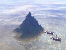 Het reizen naar de eilanden Stock Afbeelding