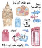 Het reizen naar Londen vector illustratie