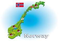 Het reizen in Noorwegen Royalty-vrije Stock Foto's