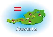 Het reizen in Oostenrijk Stock Afbeeldingen