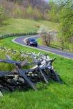 Het reizen op Blauw Ridge Parkway Royalty-vrije Stock Foto's