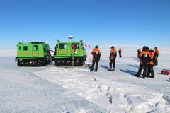 Het reizen op het overzeese ijs in Antarctica Royalty-vrije Stock Foto