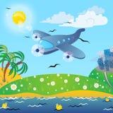 Het reizen op het vliegtuig. Royalty-vrije Stock Afbeeldingen
