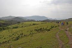 Het reizen in Simion-bergen Stock Fotografie