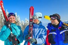 Het reizen van de ski Stock Afbeelding