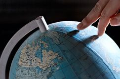Het reizen van de wereld Stock Foto's