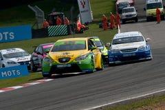 Het Reizen van HiQ MSA het Britse Kampioenschap van de Auto, Merken H Stock Foto's
