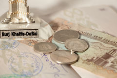 Het reizen in Verenigde Arabische Emiraten Stock Afbeelding