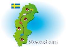 Het reizen in Zweden Stock Foto