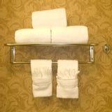 Het Rek van de Handdoek van het messing Stock Foto's