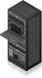 Het Rek van de server Stock Foto