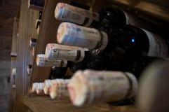 Het rek van de wijn stock afbeelding