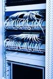 Het rek van het netwerk stock afbeelding
