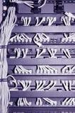 Het rek van het netwerk met kabels #2 Stock Afbeeldingen