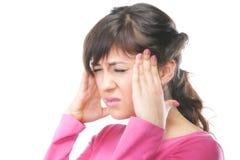 Het rekken hoofdpijn Stock Afbeeldingen
