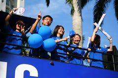 Het Relais van de Toorts van de Olympische Spelen 2010 van de jeugd Royalty-vrije Stock Foto's