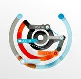 Het in reliëf gemaakte minimale diagram en de stickers van de stijllijn Royalty-vrije Stock Afbeelding