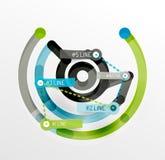 Het in reliëf gemaakte minimale diagram en de stickers van de stijllijn Stock Foto's