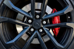 Het remsysteem van de generatie van Chevrolet Camaro SS vijfde, 2015 Stock Foto