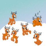 Het rendier leuke illustratie van de kerstman Stock Foto's