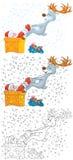 Het rendier ontwart Kerstman Royalty-vrije Stock Foto