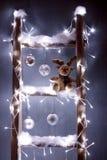 Het rendier Rudolf van Kerstmis stock foto