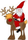 Het Rendier van de Kerstman Stock Foto
