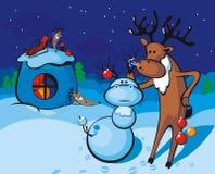 Het rendier van de kerstman vector illustratie