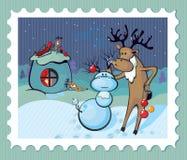 Het rendier van de kerstman stock illustratie