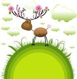 Het rendier van de lente. Vector Illustratie Royalty-vrije Stock Afbeelding