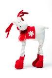 Het rendier van Kerstmis op wit Stock Afbeelding