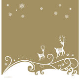 Het rendierachtergrond van Kerstmis Stock Foto